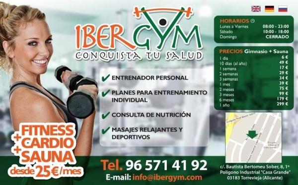 Ibergym dise o de imagen corporativa para un gimnasio en for Gimnasio torrevieja